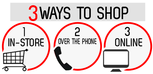 3 WAYS TO SHOP